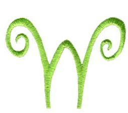 Swirly Alphabet Lower Case w