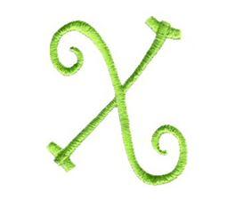Swirly Alphabet Lower Case x