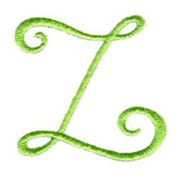Swirly Alphabet Lower Case z
