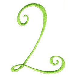 Swirly Alphabet Number 2