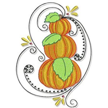 Swirly Autumn Too 5x7 6