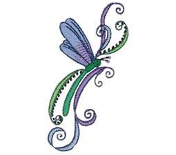 Swirly Dragonflies 1