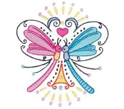 Swirly Dragonflies 2