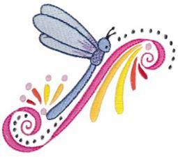 Swirly Dragonflies 5