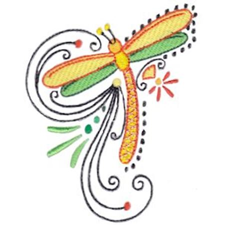 Swirly Dragonflies 7