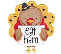 Eat Ham Turkey Applique