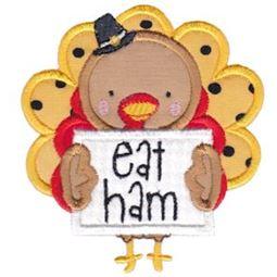 Eat Ham Turkey Applique