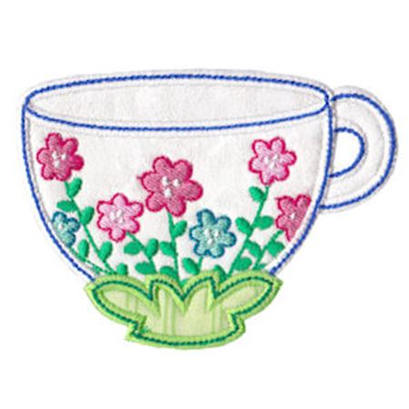 Time For Tea Applique 10