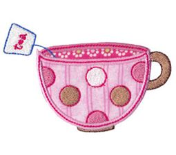 Time For Tea Applique 6