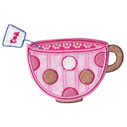 Time For Tea Applique 6