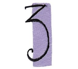 Tiny Blocks Alphabet Number 3