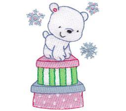 Polar Bear Standing On Presents