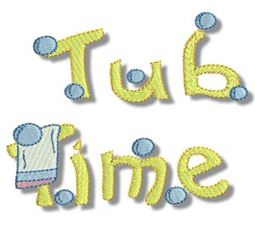 Tub Time Applique 11