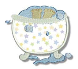 Tub Time Applique 7