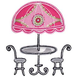 Applique French Table and Chairs