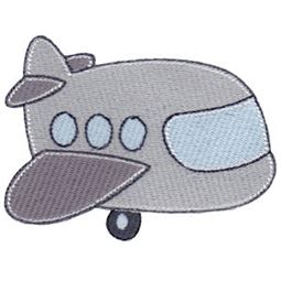 Filled Stitch Airplane