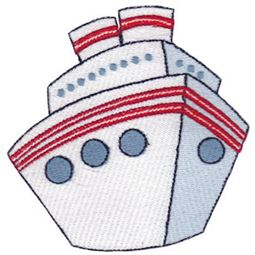 Filled Stitch Cruise Ship