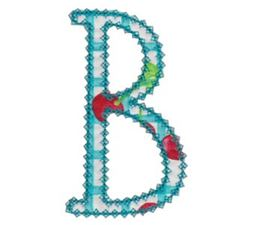 Vintage Delicious Applique Alphabet b