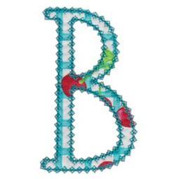 Vintage Delicious Applique Alphabet b