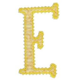 Vintage Delicious Applique Alphabet e