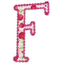 Vintage Delicious Applique Alphabet f