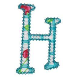 Vintage Delicious Applique Alphabet h