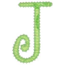 Vintage Delicious Applique Alphabet j