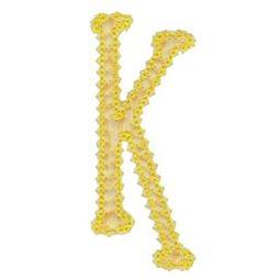 Vintage Delicious Applique Alphabet k