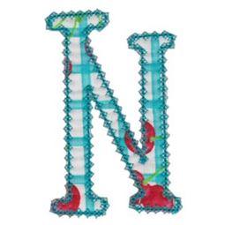 Vintage Delicious Applique Alphabet n