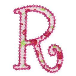 Vintage Delicious Applique Alphabet r
