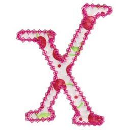 Vintage Delicious Applique Alphabet x
