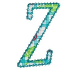 Vintage Delicious Applique Alphabet z