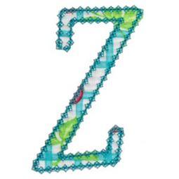Vintage Delicious Applique Alphabet z
