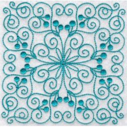 Wavy Quilt Blocks Redwork 1