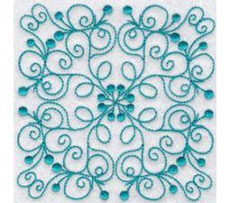 Wavy Quilt Blocks Redwork 10