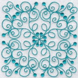 Wavy Quilt Blocks Redwork 10