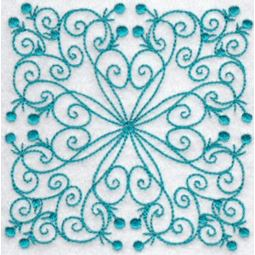 Wavy Quilt Blocks Redwork 11