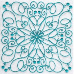 Wavy Quilt Blocks Redwork 12