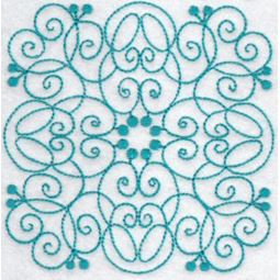 Wavy Quilt Blocks Redwork 2