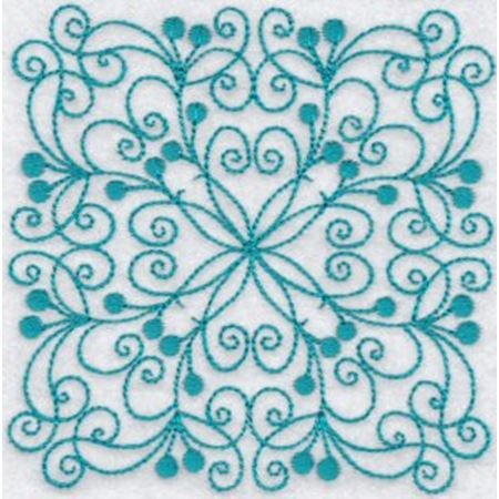 Wavy Quilt Blocks Redwork 3