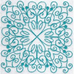 Wavy Quilt Blocks Redwork 4