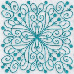 Wavy Quilt Blocks Redwork 5