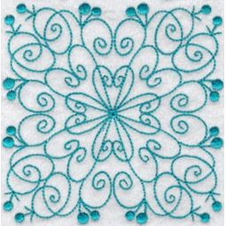 Wavy Quilt Blocks Redwork 6