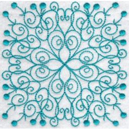 Wavy Quilt Blocks Redwork 8