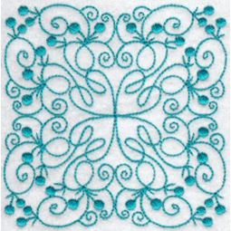 Wavy Quilt Blocks Redwork 9