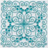 Wavy Quilt Blocks Redwork