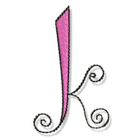 Whimsy Alphabet Lower Case K