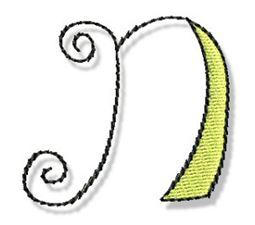 Whimsy Alphabet Lower Case N