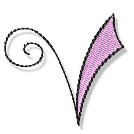 Whimsy Alphabet Lower Case V