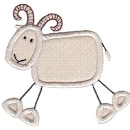 Ram Stick Animal Applique